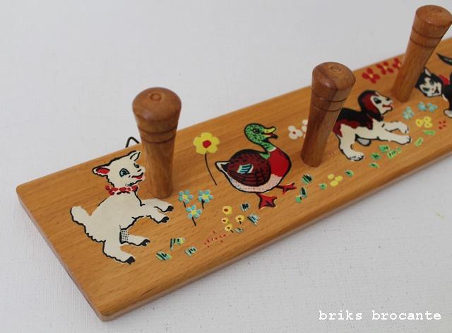 houten kapstok dieren