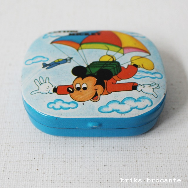 klein blikje Disney stickers