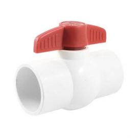 Kogelkraan PVC  (wit)