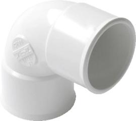 Bocht PVC 90 graden (wit)