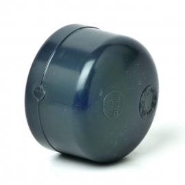 Eindkap PVC (grijs)