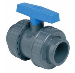 Kogelkraan PVC  (grijs)
