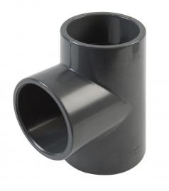 T-stuk PVC (grijs)