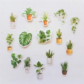 Planner Stickers - Tropische Planten (set 45 stuks)