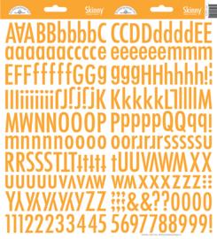 Doodlebug Skinny Stickers - Tangerine oranje