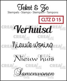 Clear Stamp - D 15 - Tekst & Zo Stempels