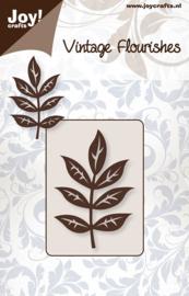 Snijmal Joy!Crafts - Vintage Flourishes 'bladeren model 1'