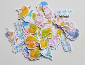Planner Stickers - Parkieten (set 70 stuks)