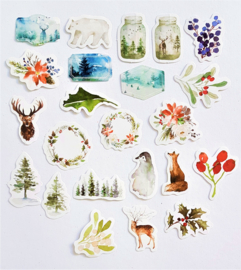 Planner Stickers - Winterplaatjes (set 46 stuks)