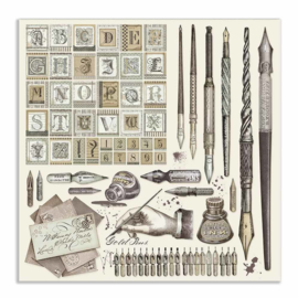 """12"""" PaperPad Stamperia - Calligraphy"""
