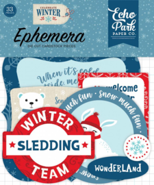 Die-Cuts Echo Park - Celebrate Winter (Ephemera)