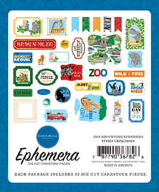 Die-Cuts Carta Bella - Zoo Adventure