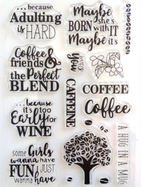 Clear Stamp - Coffee / Koffie