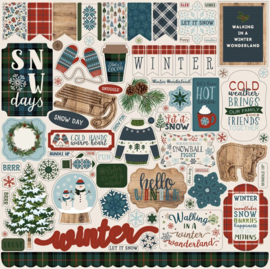 Carta Bella stickers - Let it Snow