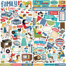 Carta Bella stickers - Family Night