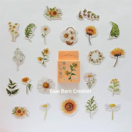 Planner Stickers - Gele Voorjaarsbloemen (set 45 stuks)