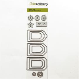 Snijmal CraftEmotions - Label variatie 9 stuks