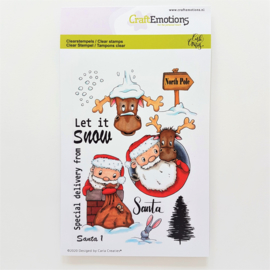 Clear Stamp CraftEmotions - Santa 1 (A6-formaat)