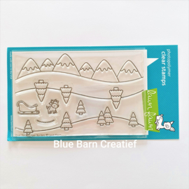 Clear Stamp Lawn Fawn - Over the Mountain Borders
