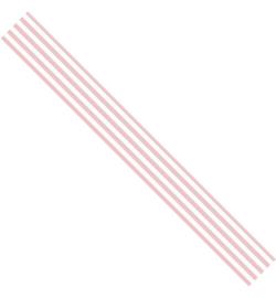 Satijn lint - Roze gestreept (3 meter)