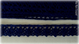 Katoen kant - Blauw