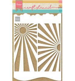 Marianne Design Stencil A4 - SlimLine Sunburst
