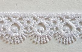 Wit kant met schulprandje - 15 mm