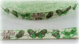 Lint - Vintage Vlinders groen