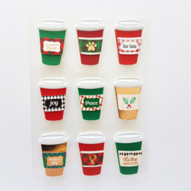 Embellishments stickers - Christmas Cheer Coffee Cup