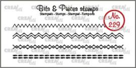 CreaLies clear stamp - 4x stiklijntjes