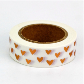 Masking Tape - Kleine koperkleurige hartjes