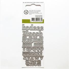 Snijmal CraftEmotions - Alfabet Kleine letters (klein)