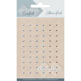 Card Deco Zelfklevende Parels - licht grijs/licht blauw/zalm