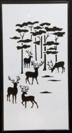 Stencil Mask - Herten in Bos