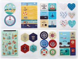 Stickers Nautisch - set 8 velletjes