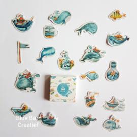 Planner stickers - Walvis (set 40 stuks)