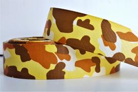 Lint - Camouflage motief 'geel/bruin'