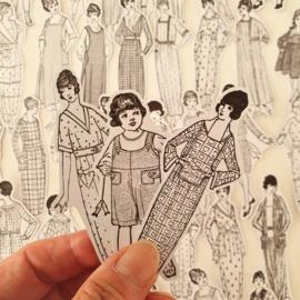 Vintage Vrouwen Zwart/Wit (set 54 stuks)