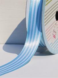 Satijn lint - Blauw gestreept (3 meter)