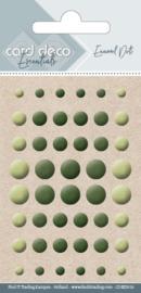 Card Deco Enamel Dots - Pearl Yellow Green