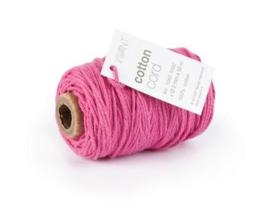 Katoen Koord 2mm - Fuchsia Roze
