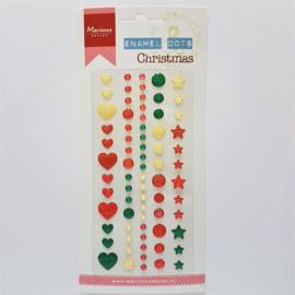 Marianne Design Enamel Dots - Christmas