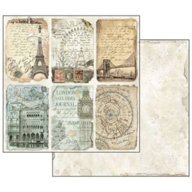 "12"" PaperPad Stamperia - Around the World"
