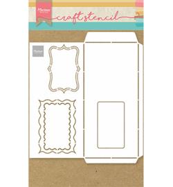Marianne  Design Stencil A4 - SlimLine Envelop