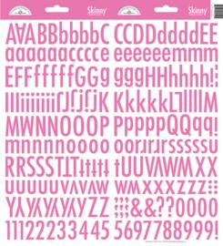Doodlebug Skinny Stickers - Bubblegum roze