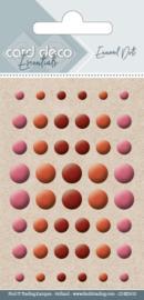 Card Deco Enamel Dots - Pearl Burgundy