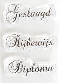 Clear Stamp - Geslaagd