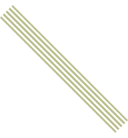 Satijn lint - Groen gestreept (3 meter)