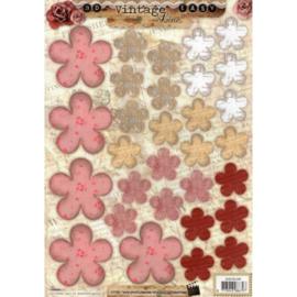 Knipvel StudioLight - Bloemen roze/rood