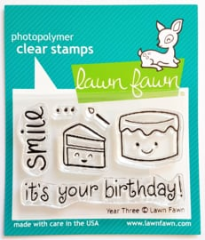 Clear Stamp - Lawn Fawn - Year Three
